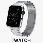 Apple WATCH 42 mm koperta ze stali nierdzewnej z bransoletą ze stali nierdzewnej 3d model