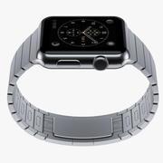 Корпус Apple WATCH 42 мм из нержавеющей стали с браслетом из нержавеющей стали 3d model