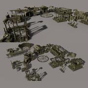 Ruinas antigua ciudad modelo 3d