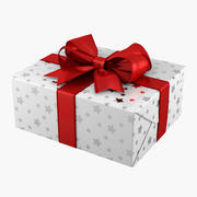 Geschenkbox Rechteck weiß 3d model