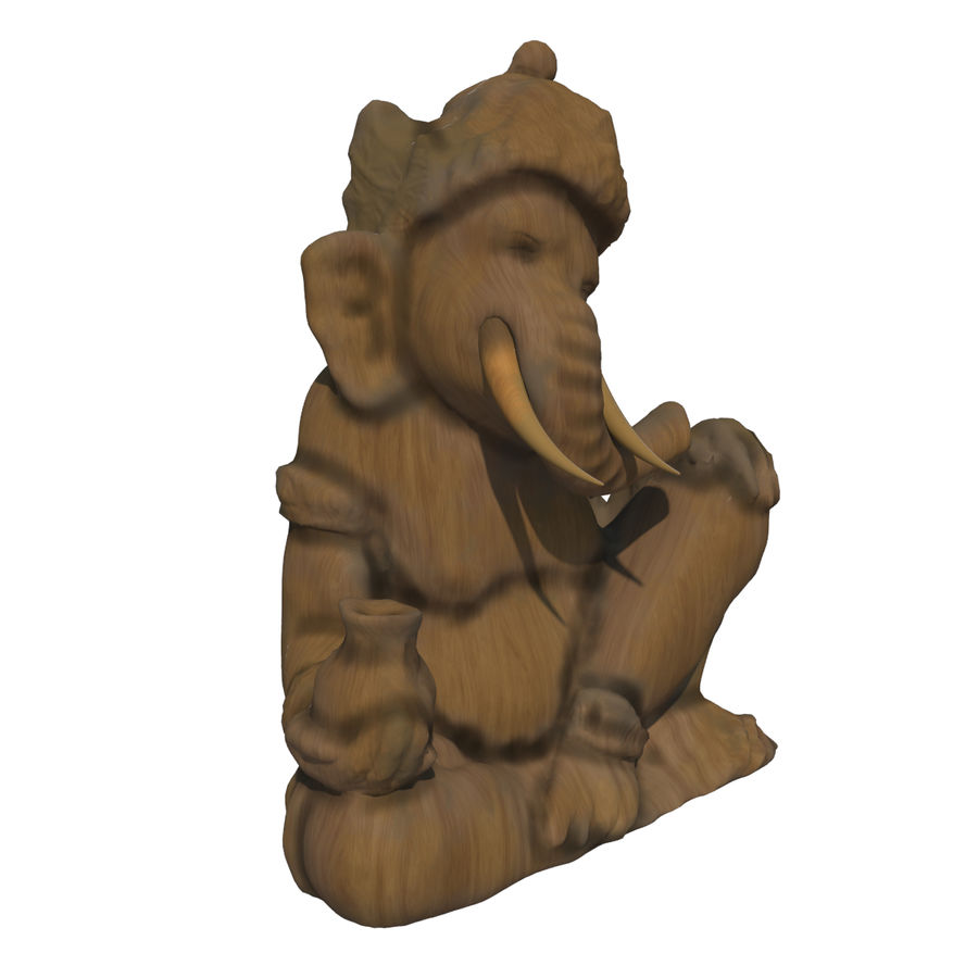 Ganesha Heykeli royalty-free 3d model - Preview no. 4