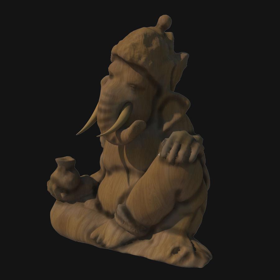 Ganesha Heykeli royalty-free 3d model - Preview no. 2