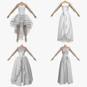 Coleção de vestidos de noiva 4 em 1 3d model