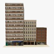 Gotowy do gry Low Poly English City Block 1 3d model