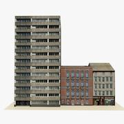 Game Ready Low Poly English City Block 2 3d model