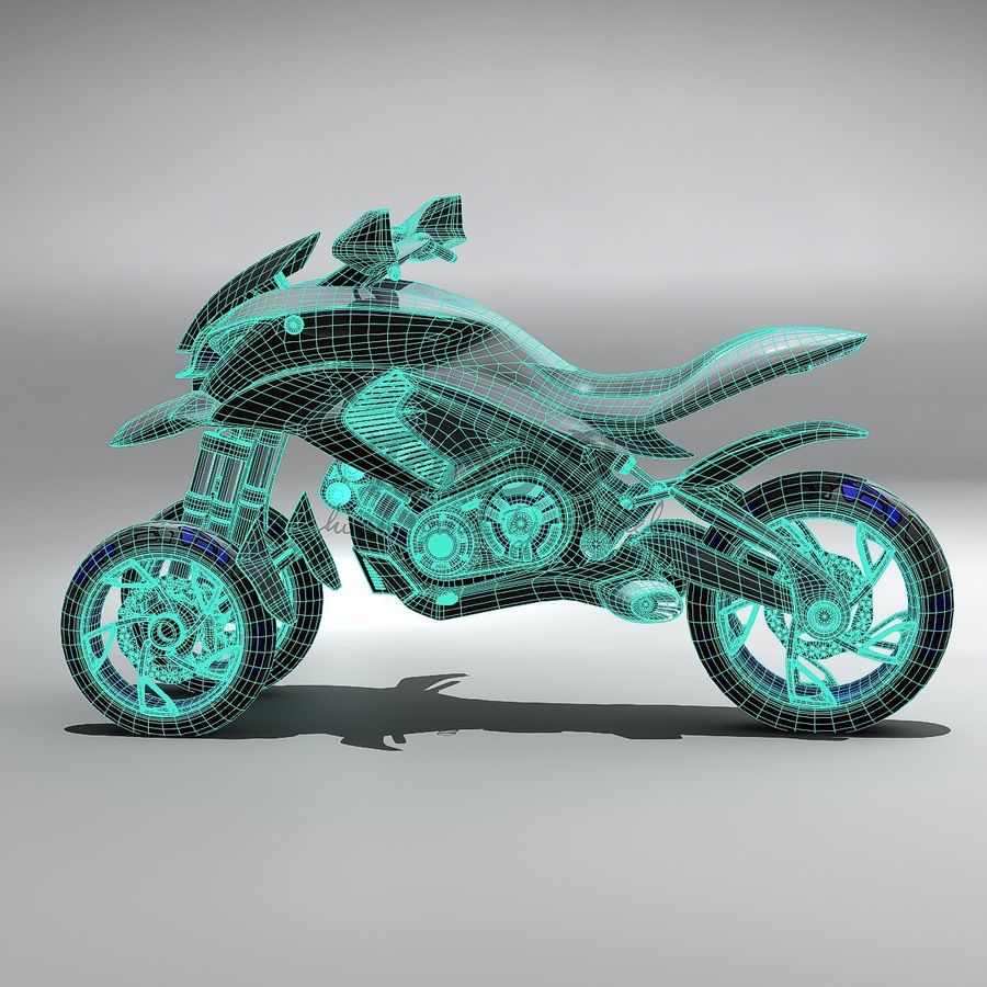 Concept  Bike royalty-free 3d model - Preview no. 10