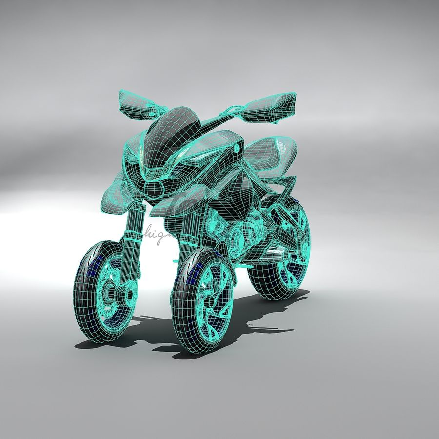Concept  Bike royalty-free 3d model - Preview no. 9
