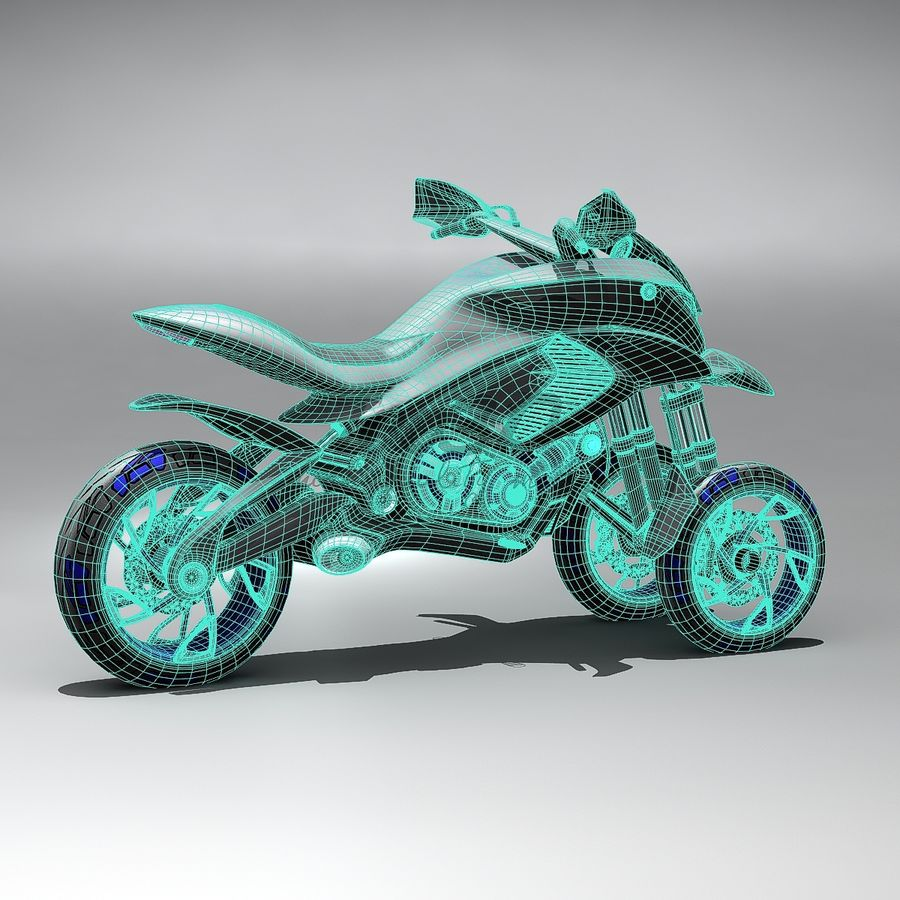 Concept  Bike royalty-free 3d model - Preview no. 12