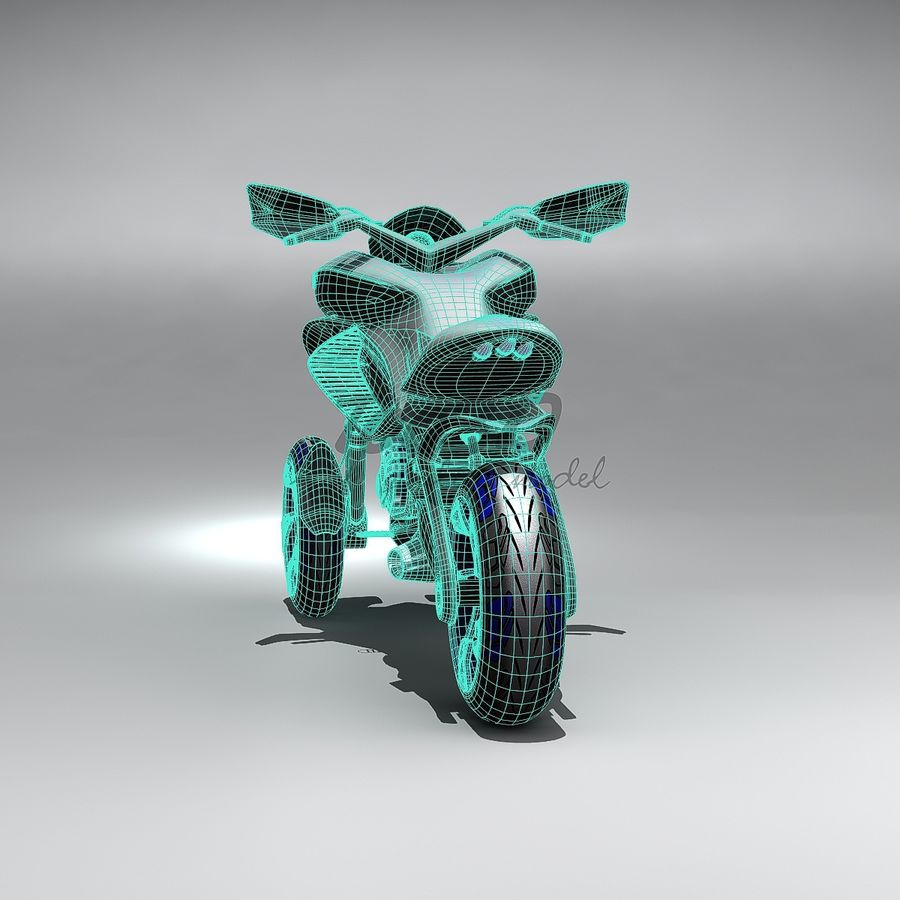 Concept  Bike royalty-free 3d model - Preview no. 11