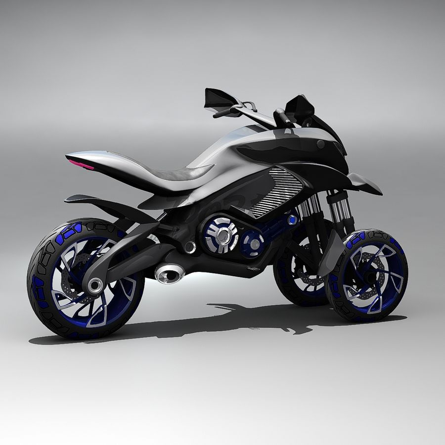 Concept  Bike royalty-free 3d model - Preview no. 7