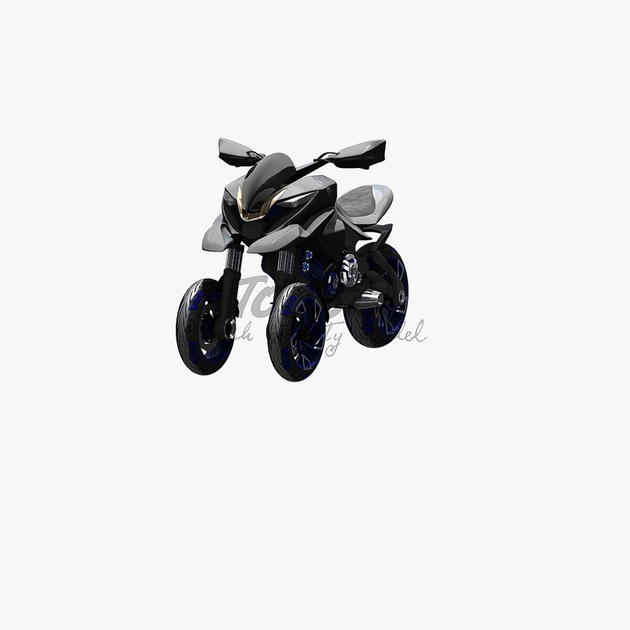 Concept  Bike royalty-free 3d model - Preview no. 2