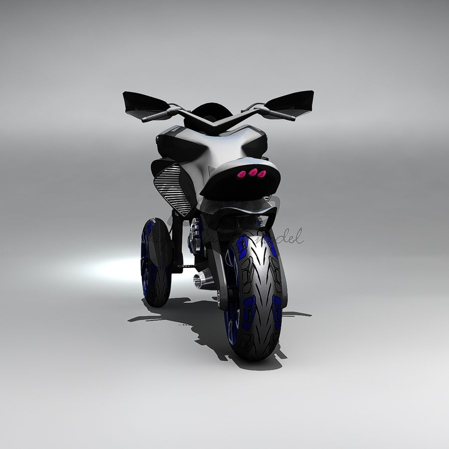 Concept  Bike royalty-free 3d model - Preview no. 6