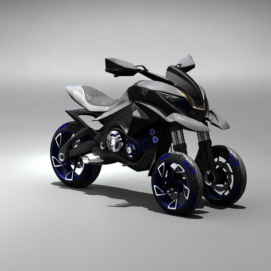 Concept  Bike royalty-free 3d model - Preview no. 13