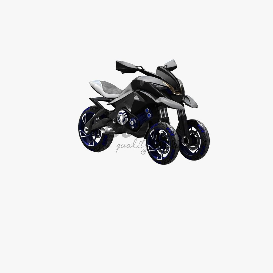 Concept  Bike royalty-free 3d model - Preview no. 1