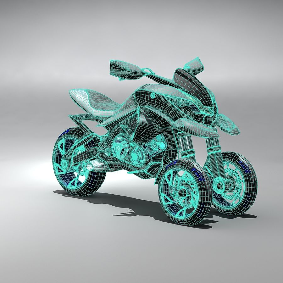 Concept  Bike royalty-free 3d model - Preview no. 8