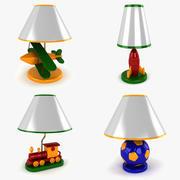 Collection de lampes pour enfants 3d model