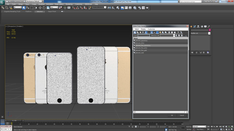Apple iPhone 6 및 Apple iPhone 6 Plus royalty-free 3d model - Preview no. 18