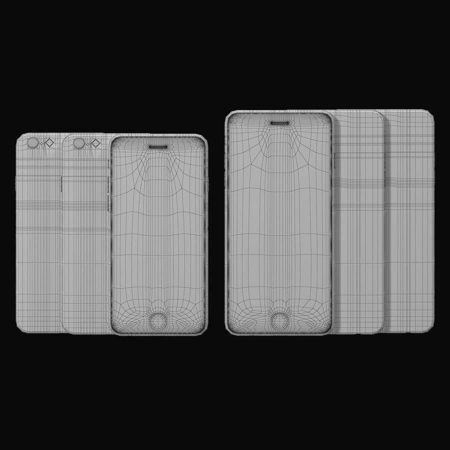 Apple iPhone 6 och Apple iPhone 6 Plus royalty-free 3d model - Preview no. 8
