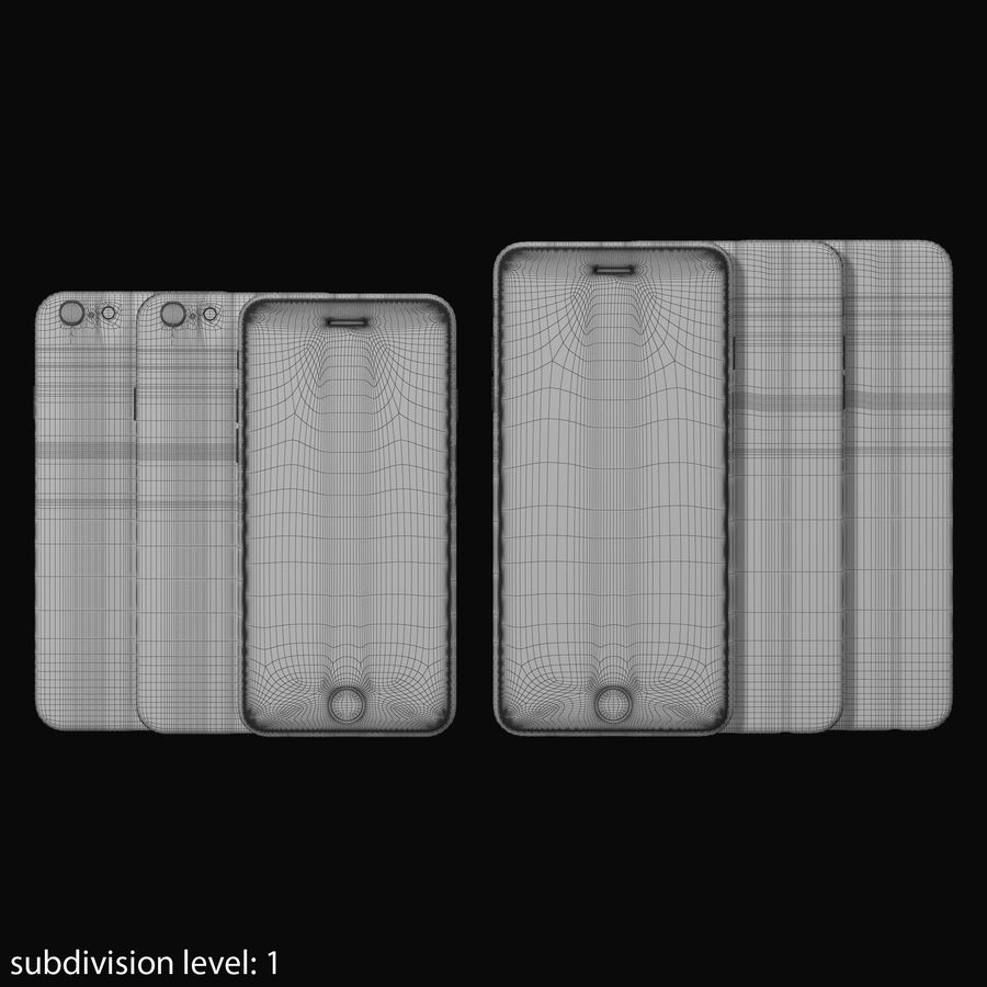 Apple iPhone 6 och Apple iPhone 6 Plus royalty-free 3d model - Preview no. 20