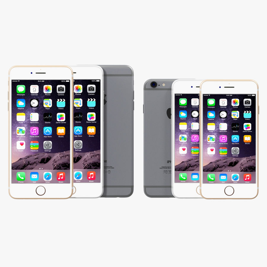 Apple iPhone 6 och Apple iPhone 6 Plus royalty-free 3d model - Preview no. 3