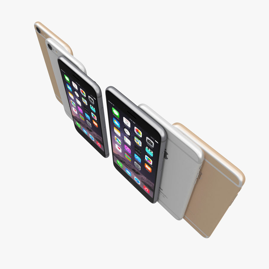 Apple iPhone 6 och Apple iPhone 6 Plus royalty-free 3d model - Preview no. 6