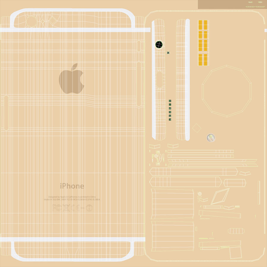 Apple iPhone 6 och Apple iPhone 6 Plus royalty-free 3d model - Preview no. 16