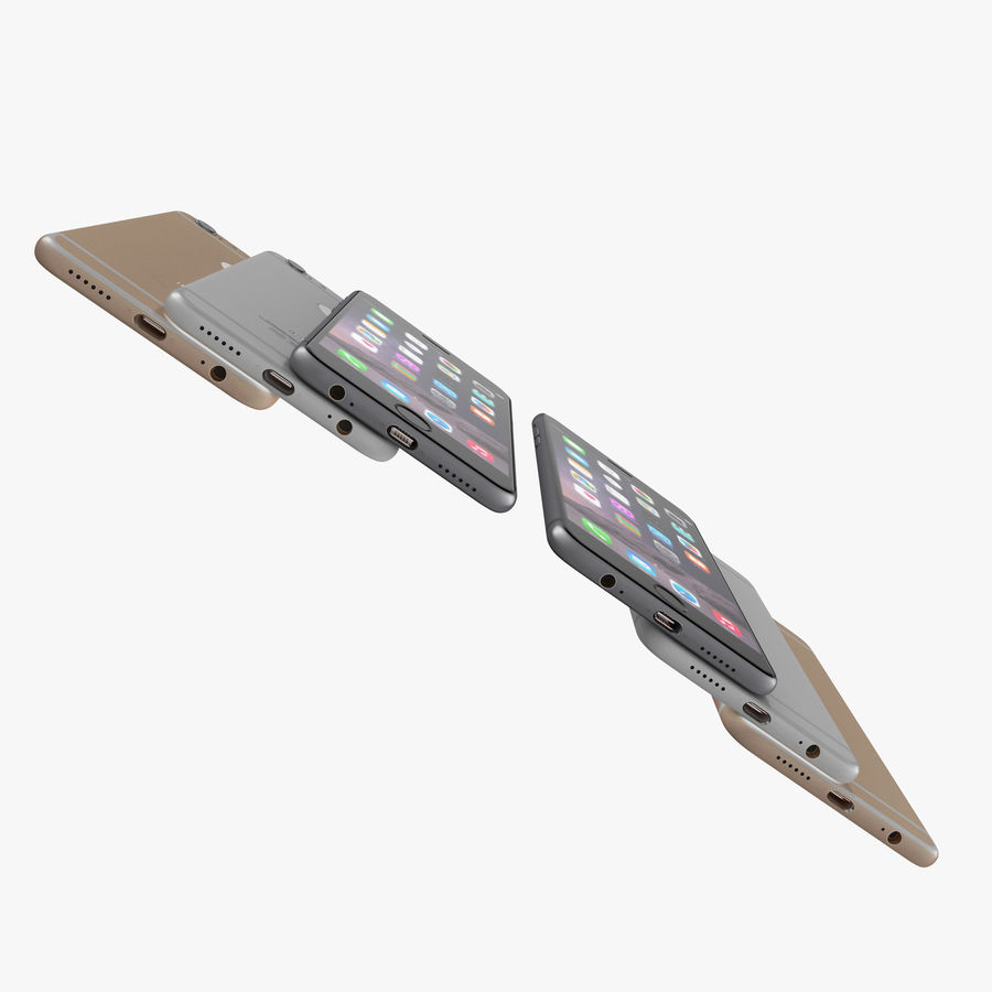 Apple iPhone 6 및 Apple iPhone 6 Plus royalty-free 3d model - Preview no. 7