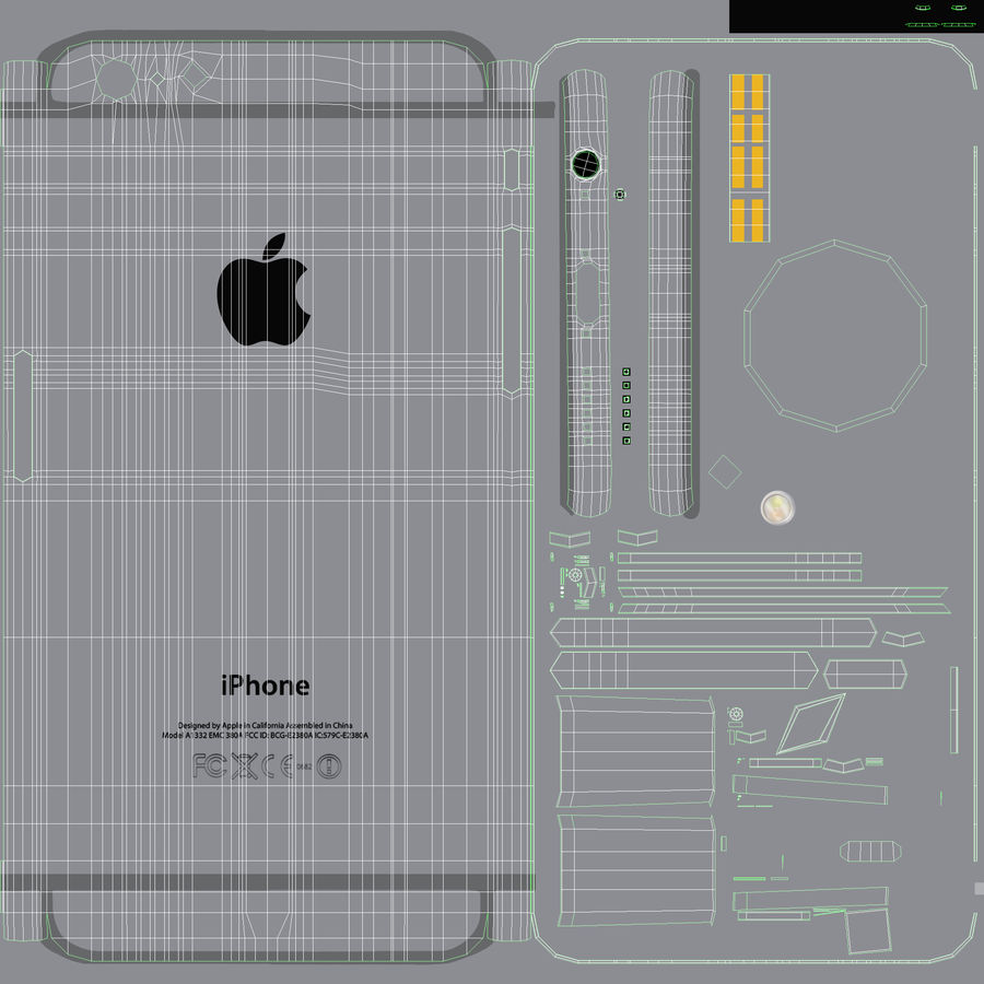 Apple iPhone 6 및 Apple iPhone 6 Plus royalty-free 3d model - Preview no. 14