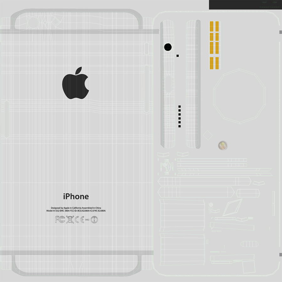 Apple iPhone 6 및 Apple iPhone 6 Plus royalty-free 3d model - Preview no. 15