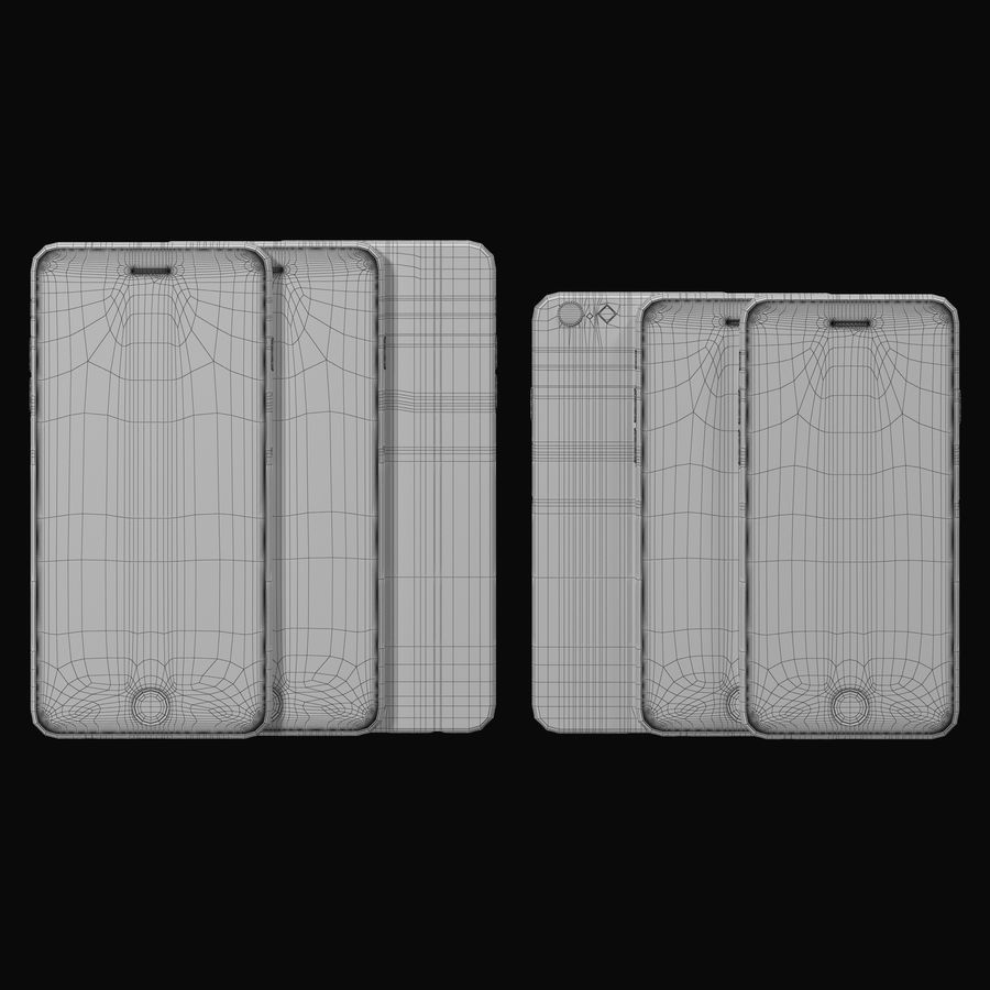 Apple iPhone 6 및 Apple iPhone 6 Plus royalty-free 3d model - Preview no. 9