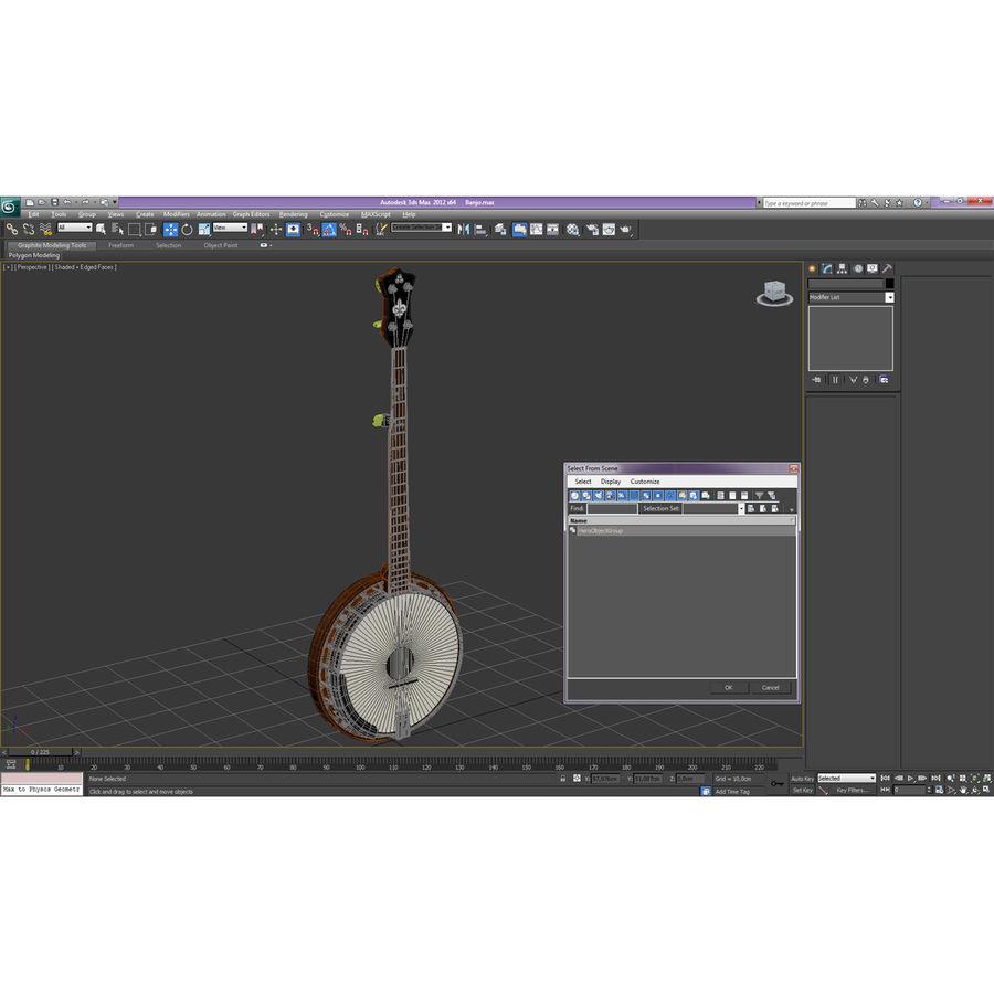Banjo royalty-free 3d model - Preview no. 35