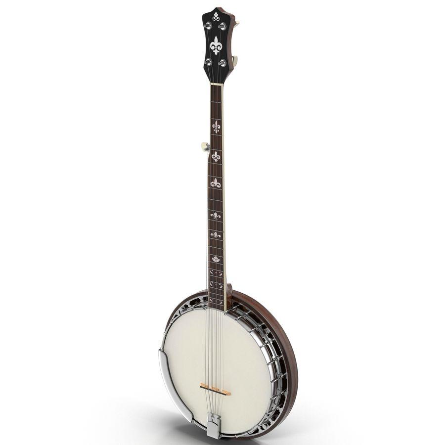 Banjo royalty-free 3d model - Preview no. 2