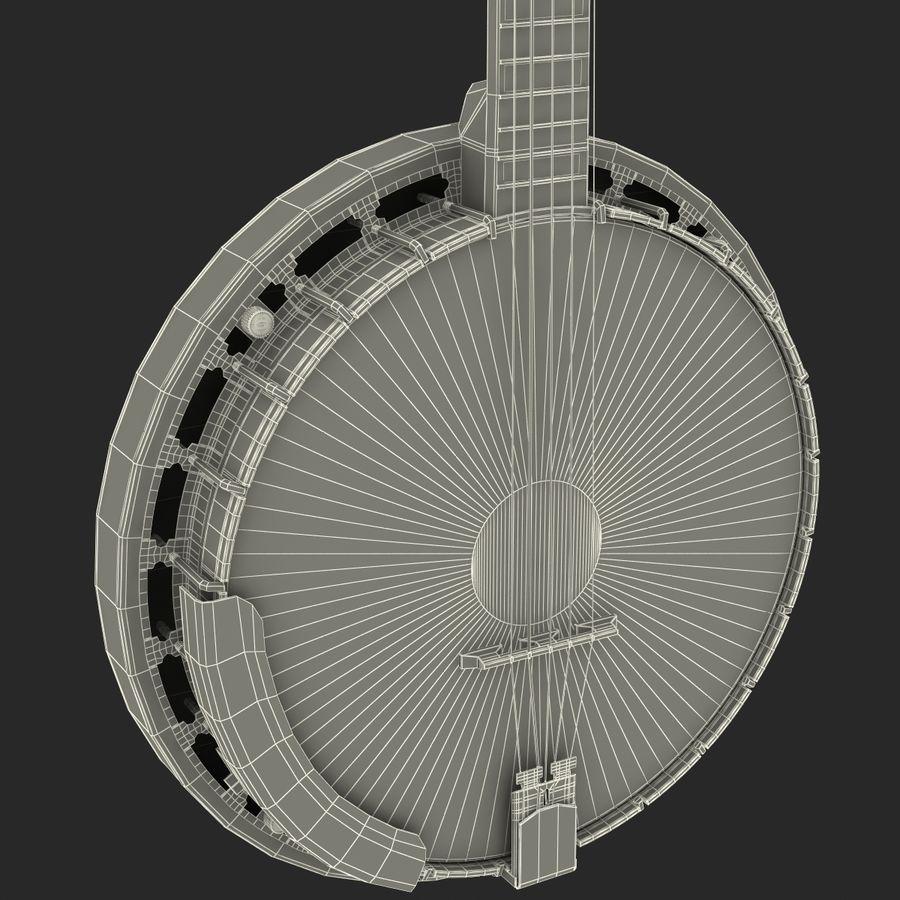 Banjo royalty-free 3d model - Preview no. 24