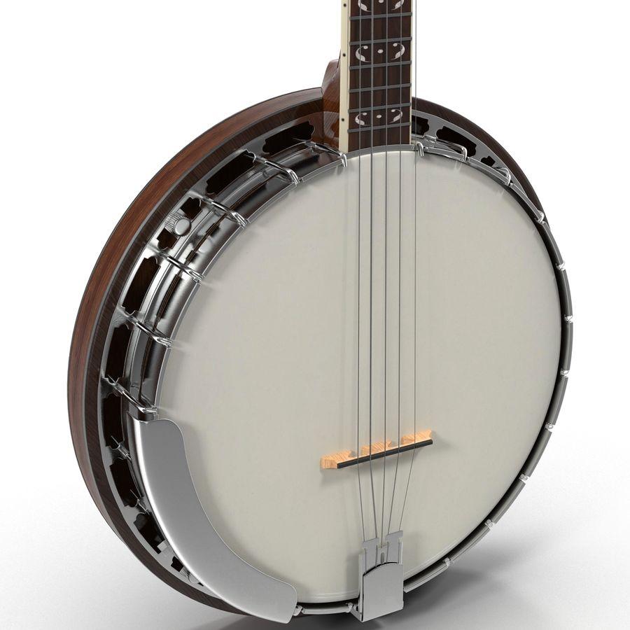 Banjo royalty-free 3d model - Preview no. 14