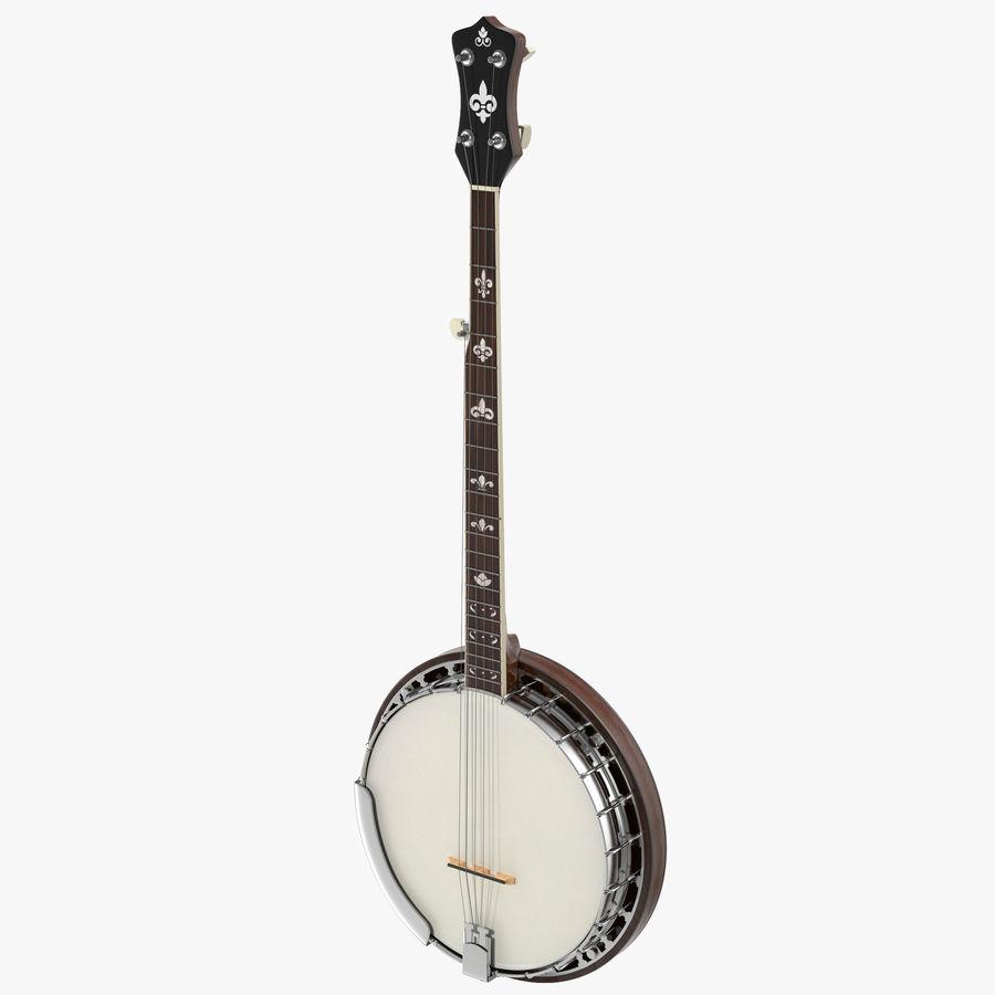 Banjo royalty-free 3d model - Preview no. 1
