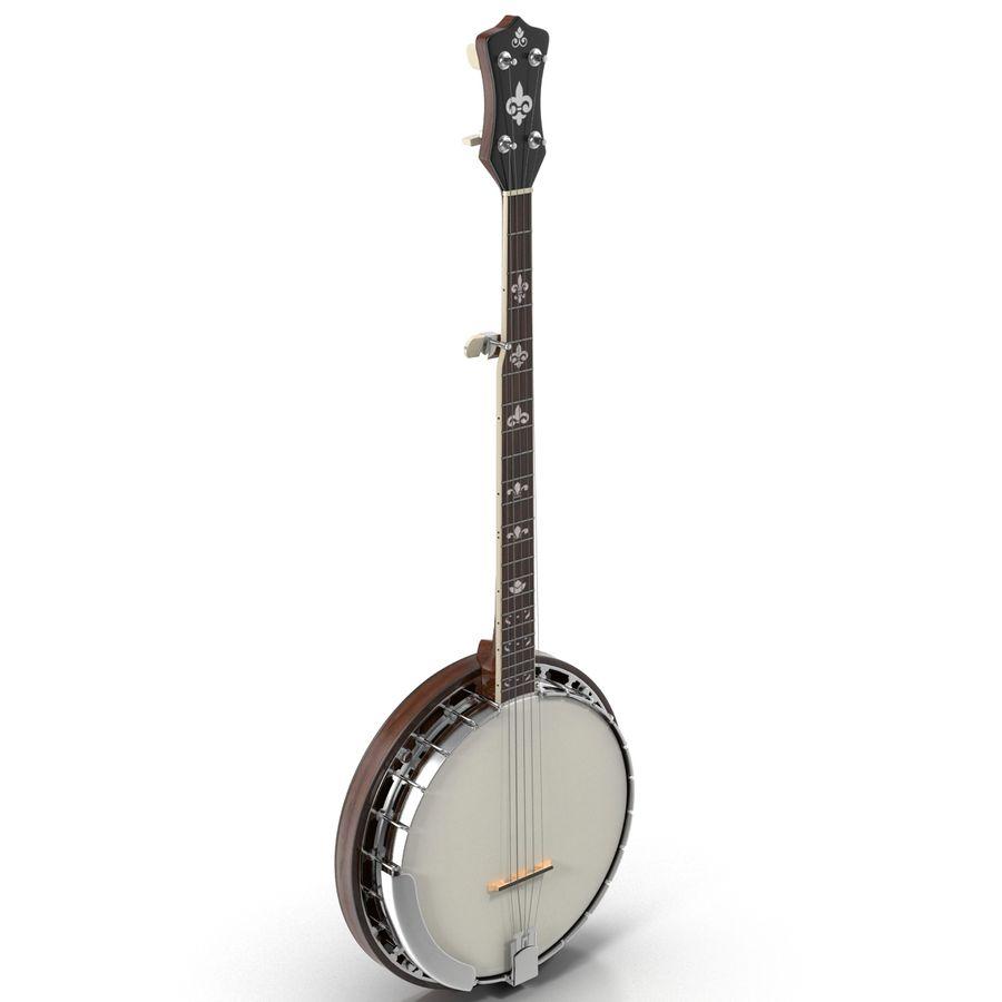 Banjo royalty-free 3d model - Preview no. 4