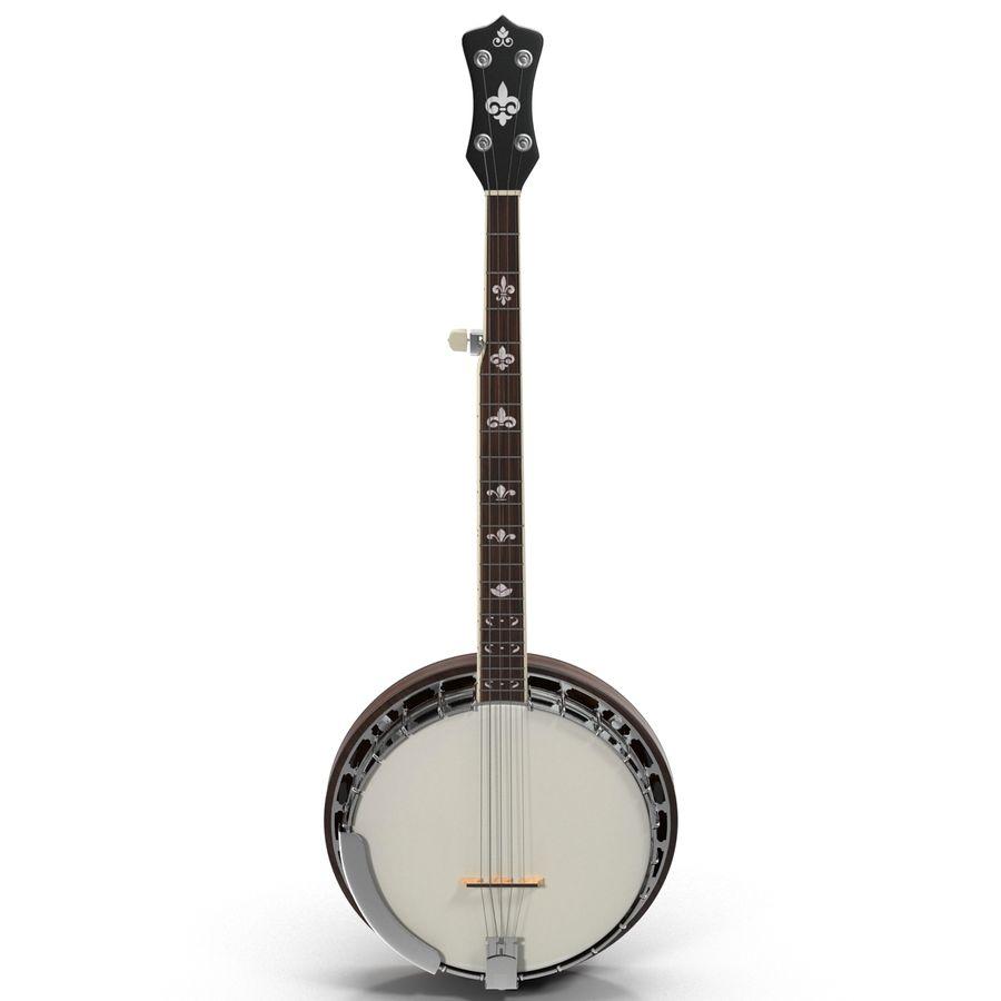 Banjo royalty-free 3d model - Preview no. 3