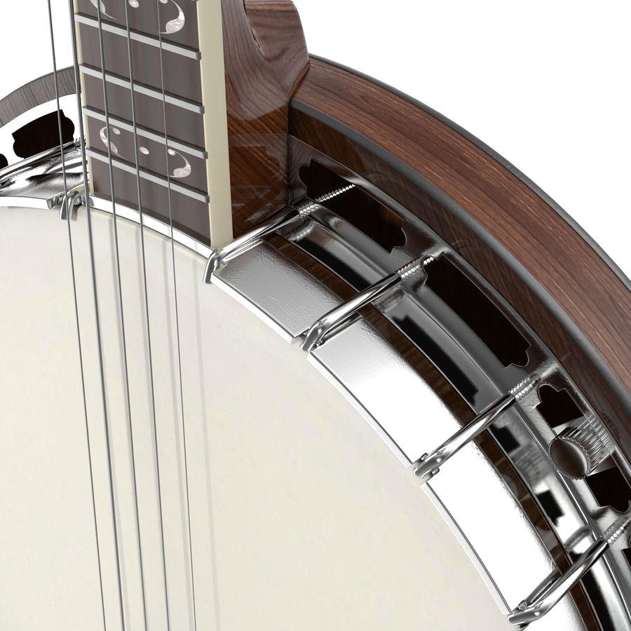 Banjo royalty-free 3d model - Preview no. 17