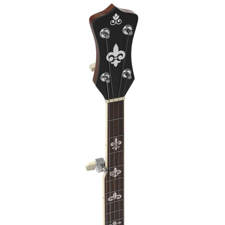 Banjo royalty-free 3d model - Preview no. 11