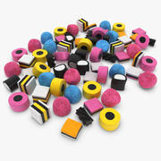 Licorice Allsorts Pile 3d model