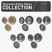 Dekorativ etnisk maträtt 3d model