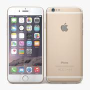 Apple iPhone 6 goud 3d model