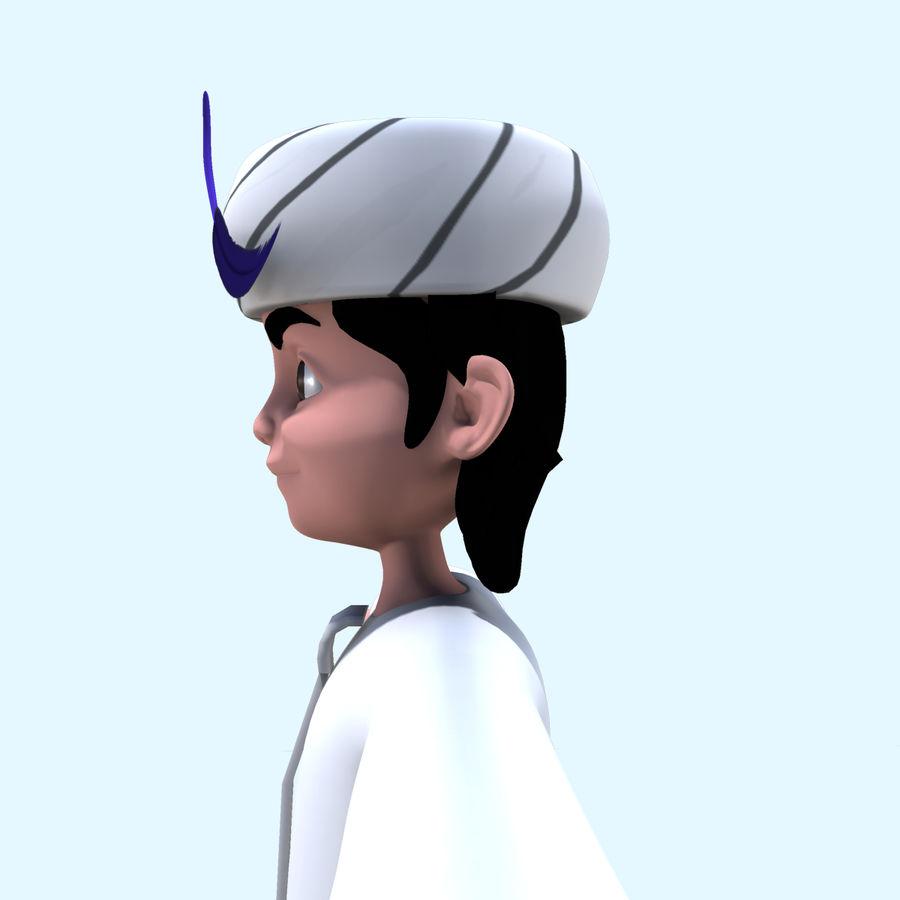 Menino árabe royalty-free 3d model - Preview no. 10