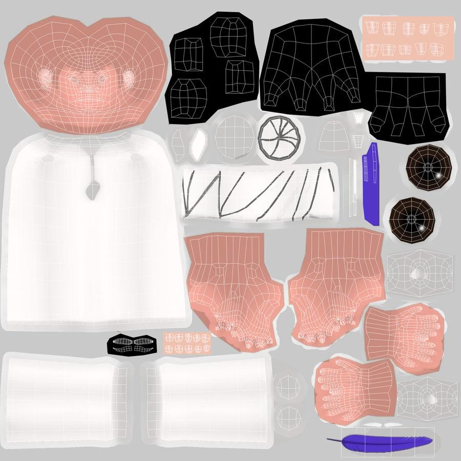 Menino árabe royalty-free 3d model - Preview no. 18