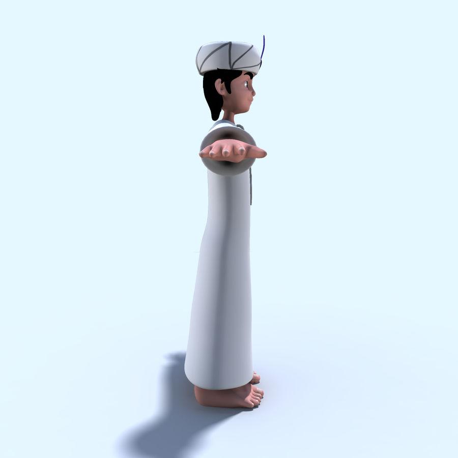 Menino árabe royalty-free 3d model - Preview no. 4