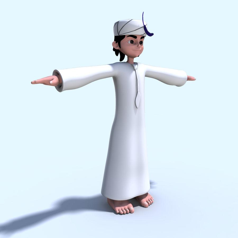 Menino árabe royalty-free 3d model - Preview no. 3