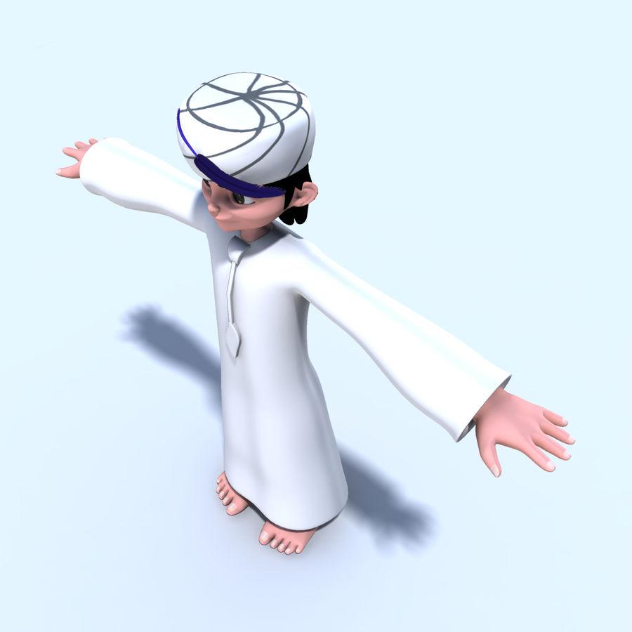 Menino árabe royalty-free 3d model - Preview no. 7