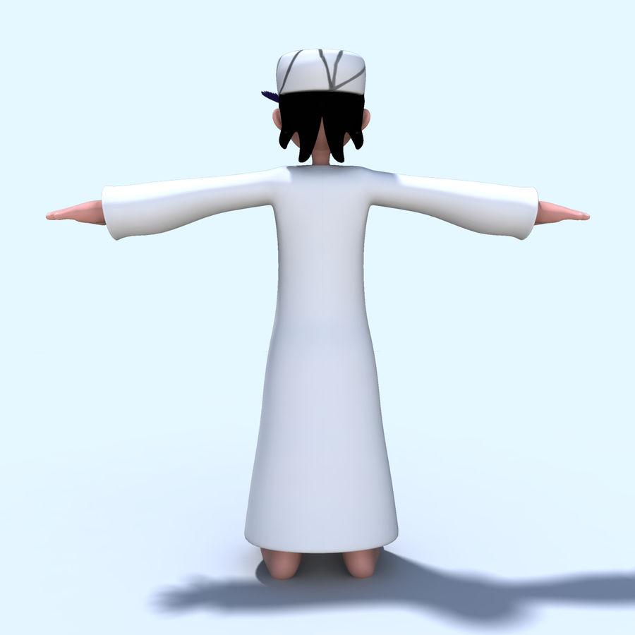 Menino árabe royalty-free 3d model - Preview no. 5