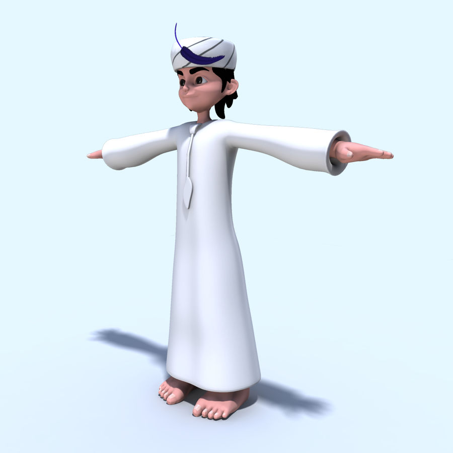 Menino árabe royalty-free 3d model - Preview no. 6