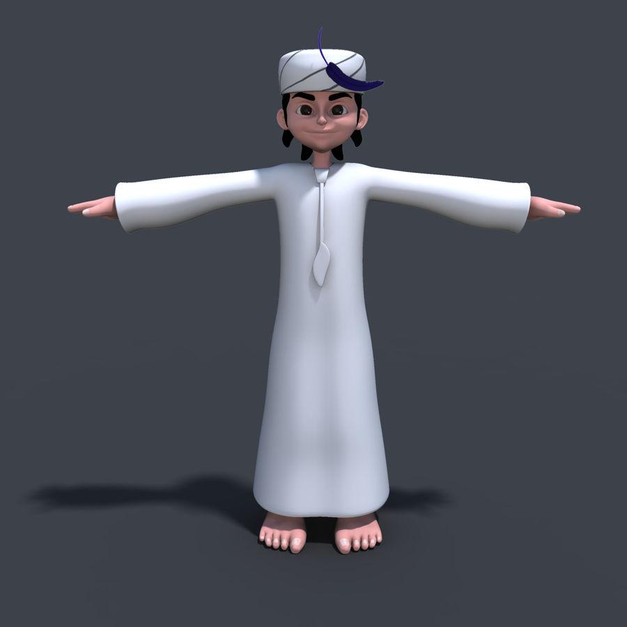 Menino árabe royalty-free 3d model - Preview no. 2